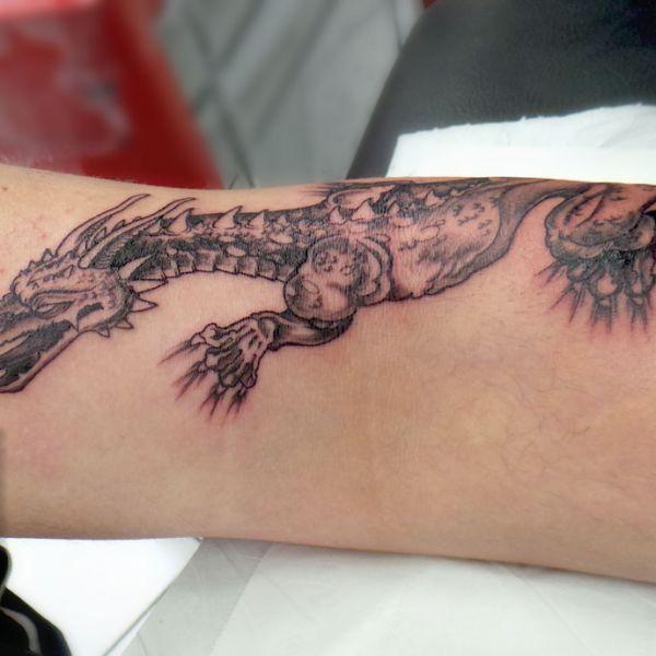 Tatouage de dragon européen