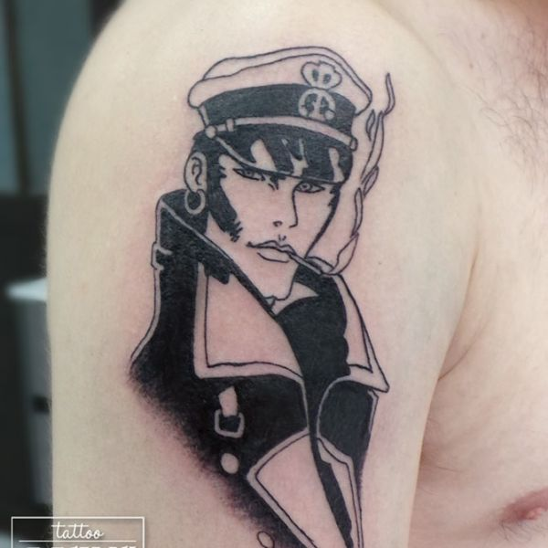 Tatouage BD Corto Maltese